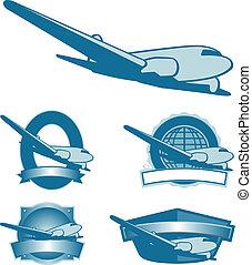 Vintage Plane Labels - Collection of vintage airplane label...