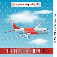 Vintage plane poster design