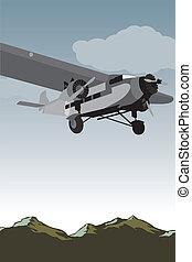 Vintage Plane Scene