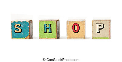 Vintage Play Blocks : Shop - Antique wooden childrens...