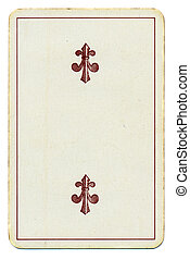 vintage playing card with two cross