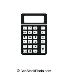 Vintage pocket calculator icon. Small portable calculation device, application user interface, classic basic arithmetic operations.Vector illustration.