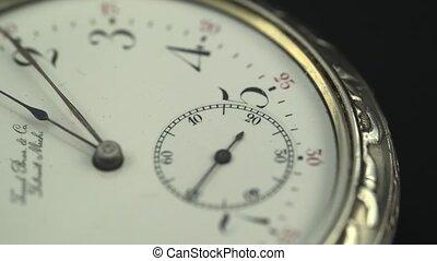 Vintage pocket watch. Close up - Vintage pocket watch...