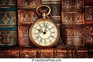 Vintage pocket watch still life