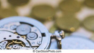 Vintage Pocket Watch - Vintage Antique Pocket Watch Against...