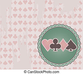 Vintage Poker background, vector