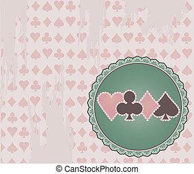 Vintage Poker background, vector
