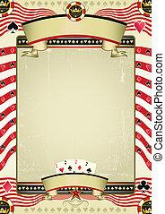 vintage poker tour - A grunge wallpaper for a background ...