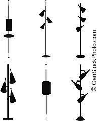 vintage pole lamps
