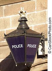 Vintage police sign
