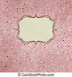 Vintage polka dot card. EPS 8