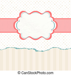 Vintage polka dot card. EPS 8