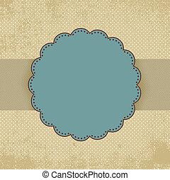 Vintage polka dot card template. EPS 8 vector file included