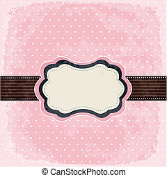 Vintage polka dot design