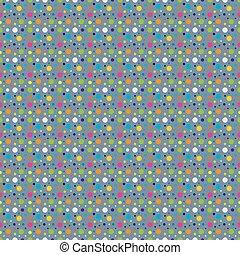 Vintage polka dots old