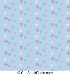 Vintage Polka Dots vector illustration
