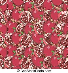 Vintage Pomegranate Seamless Pattern