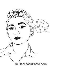 vintage pop art girl