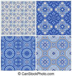 Vintage Porcelain Background Set - for design and scrapbook - in vector
