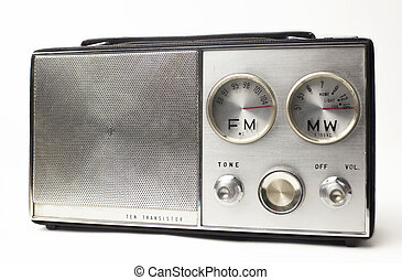 vintage portable silver radio - a great looking vintage...