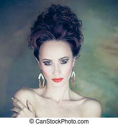 vintage portrait of elegant woman