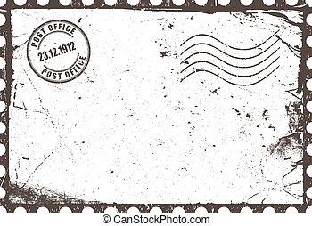 Vintage post card layout