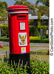 vintage post pillar box in thailand