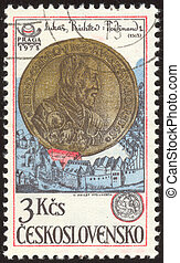 vintage postage stamp set ninety two