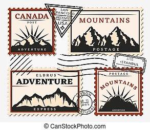Vintage Postage Stamps Set