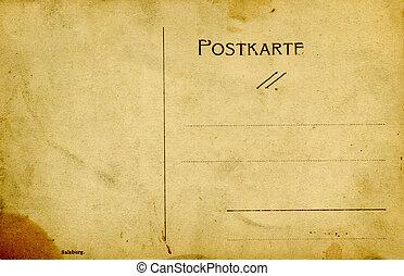 Vintage postcard. - Aged postcard,Austria.