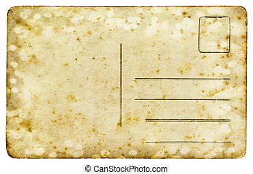 Vintage postcard isolated on white background