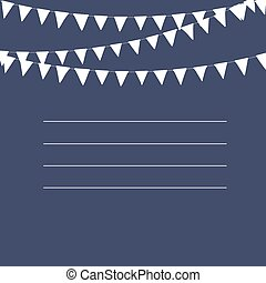 Vintage postcard or greeting card design. Hand drawn elements for your designs poster, card