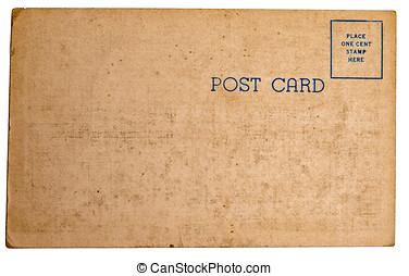 Vintage postcard texture - The backside of a vintage postage...