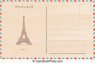 Vintage postcard. Vector design. Capitals of the world....