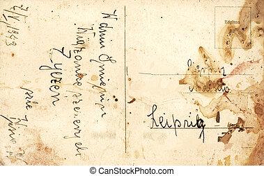 Vintage postcard with handwritten message