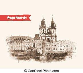 Old Prague view