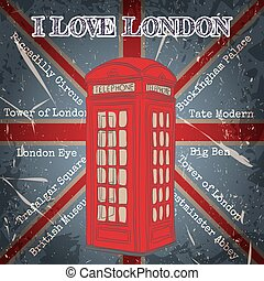 poster with london telephone box