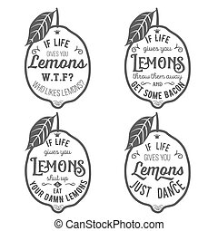 Motivation quote about lemons