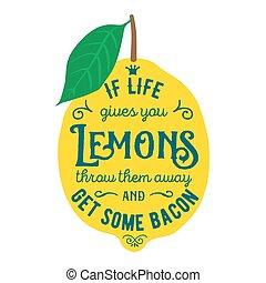 Motivation quote about lemons - Vintage posters set. ...