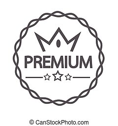 Vintage premium label icon