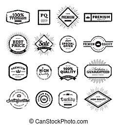 Vintage premium quality badges and labels