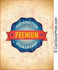 Vintage premium stamp styled label