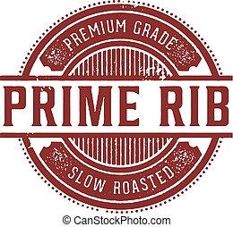 Vintage Prime Rib Menu Stamp