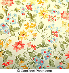 Vintage provance wallpaper with floral pattern. Square toned image, instagram effect
