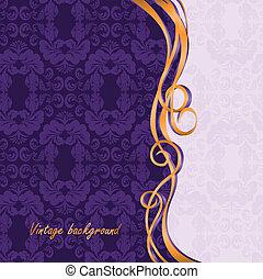 Vintage purple background