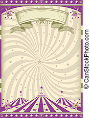 Vintage purple circus - a circus vintage poster for your ...