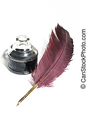 quill and ink set - vintage quill and ink set
