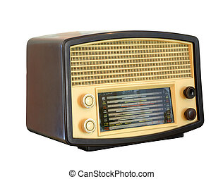 Vintage radio, clipping path