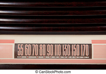 Vintage Radio Dial Background