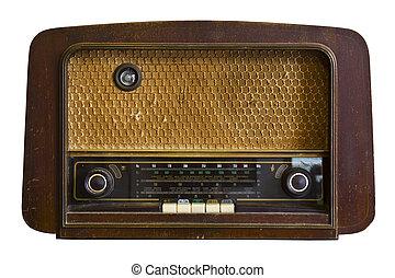 vintage radio, fashioned